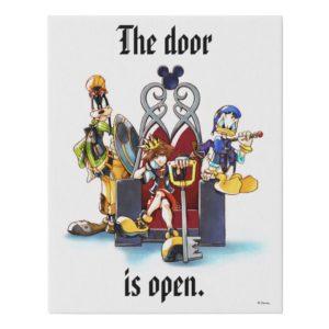 Kingdom Hearts | Sora, Donald, & Goofy On Throne Faux Canvas Print