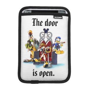 Kingdom Hearts   Sora, Donald, & Goofy On Throne iPad Mini Sleeve