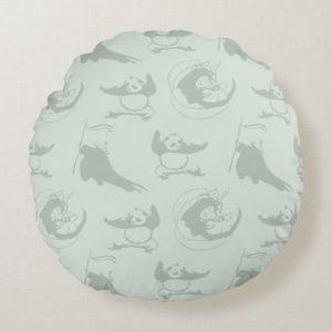 Kung Fu Panda Pattern Round Pillow