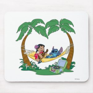 Lilo & Stitch Lilo Stitch on a hammock Mouse Pad