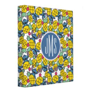 Lilo & Stitch | Monogram Pineapple Pattern Binder