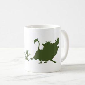 Lion King's Simba, Timon, and Pumba Silhouettes Coffee Mug