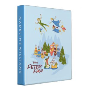 Peter Pan Flying over Neverland 3 Ring Binder