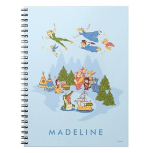 Peter Pan Flying over Neverland Notebook