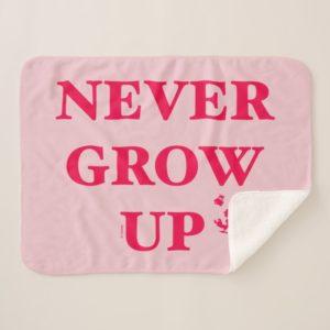 Peter Pan   Never Grow Up Sherpa Blanket