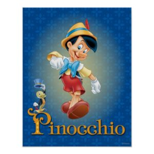 Pinocchio with Jiminy Cricket 2 Poster
