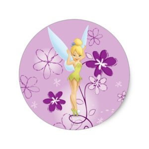 Tinker Bell  Pose 7 Classic Round Sticker