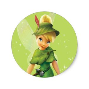 Tinker Bell  Pose 9 Classic Round Sticker