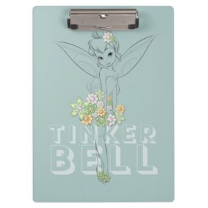 Tinker Bell Sketch With Jewel Flowers Clipboard