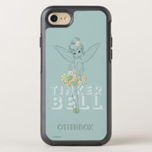 Tinker Bell Sketch With Jewel Flowers OtterBox iPhone Case