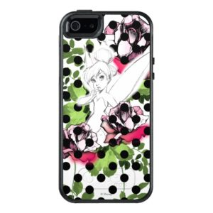 Tinker Bell Sketch With Roses and Polka Dots OtterBox iPhone Case