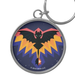 Toothless Colored Flight Graphic Keychain