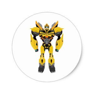 Transformers Autobot Bumblebee Classic Round Sticker