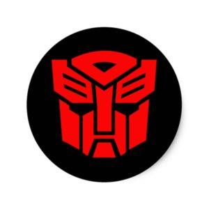 Transformers Autobot Red Mask Classic Round Sticker