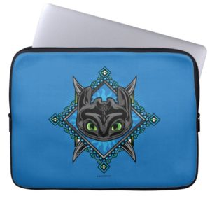 Tribal Toothless Emblem Computer Sleeve