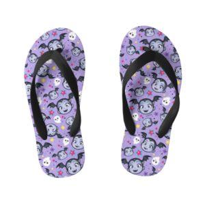 Vampirina   Super Sweet Purple Pattern Kid's Flip Flops