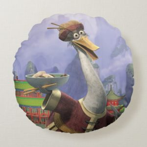 Vintage Mr. Ping Round Pillow