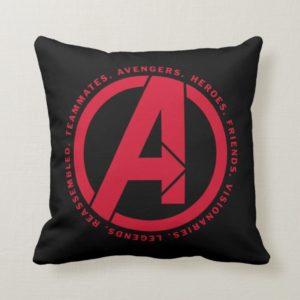 Avengers: Endgame   Avengers Attributes Logo Throw Pillow