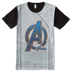 Avengers: Endgame | Avengers Blue & Gold Logo All-Over-Print Shirt