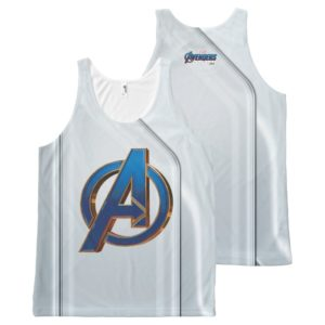 Avengers: Endgame | Avengers Blue & Gold Logo All-Over-Print Tank Top