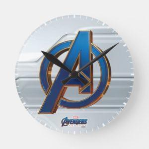 Avengers: Endgame | Avengers Blue & Gold Logo Round Clock