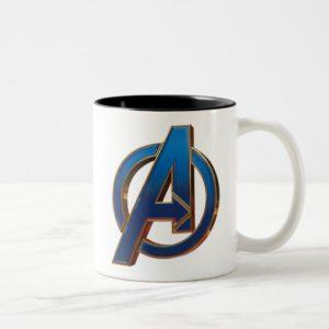 Avengers: Endgame | Avengers Blue & Gold Logo Two-Tone Coffee Mug