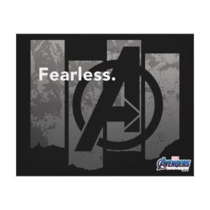 "Avengers: Endgame | ""Fearless"" Avengers Logo Canvas Print"
