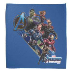 Avengers: Endgame | Group With Blue Logo Bandana