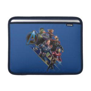 Avengers: Endgame   Group With Blue Logo MacBook Air Sleeve