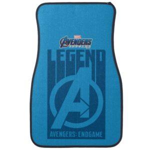 """Avengers: Endgame   """"Legend"""" Avengers Logo Car Floor Mat"""