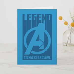 """Avengers: Endgame   """"Legend"""" Avengers Logo Card"""