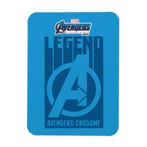 """Avengers: Endgame   """"Legend"""" Avengers Logo Magnet"""