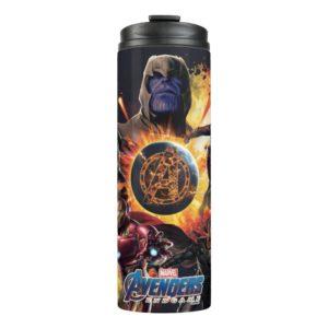 Avengers: Endgame | Thanos & Avengers Fire Graphic Thermal Tumbler