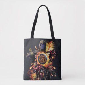 Avengers: Endgame | Thanos & Avengers Fire Graphic Tote Bag