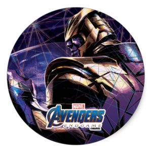 Avengers: Endgame | Thanos Fractured Graphic Classic Round Sticker