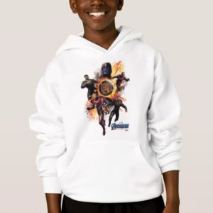 Avengers: Endgame | Thanos & Avengers Fire Graphic Hoodie