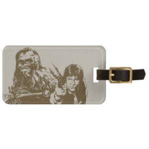 Chewie and Han Silhouette Bag Tag