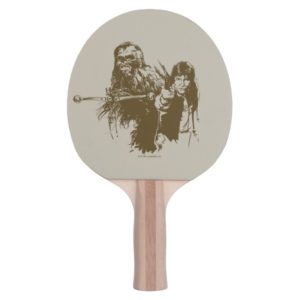Chewie and Han Silhouette Ping Pong Paddle