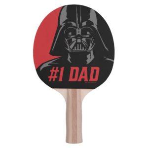 Darth Vader #1 Dad Stencil Portrait Ping Pong Paddle