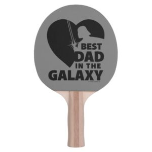 """Darth Vader """"Best Dad"""" Heart Silhouette Ping Pong Paddle"""