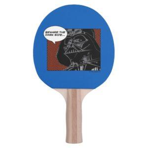 """Darth Vader Comic """"Beware The Dark Side"""" Ping Pong Paddle"""