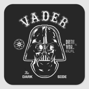 Darth Vader Dark Side Badge Square Sticker
