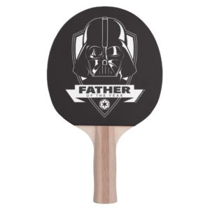 """Darth Vader """"Father of the Year"""" Crest Ping Pong Paddle"""