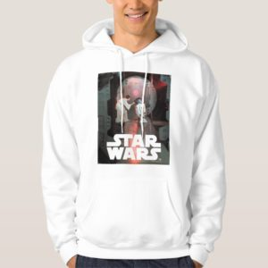 Leia and R2-D2 Secret Message Scene Hoodie