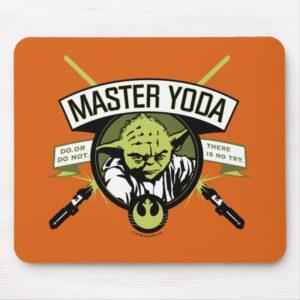 Master Yoda Lightsaber Badge Mouse Pad