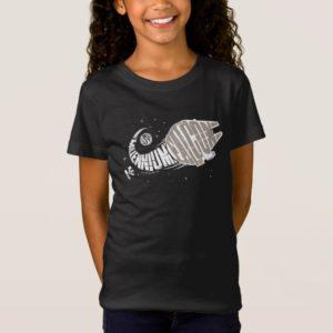 Millennium Falcon Typography Illustration T-Shirt
