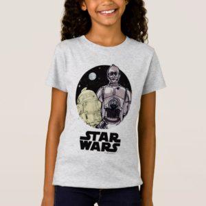 R2-D2 & C-3PO | Sketch Art T-Shirt