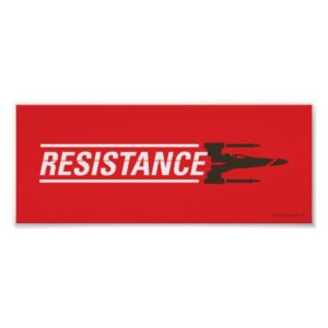 Resistance X-Wing Typography Poster
