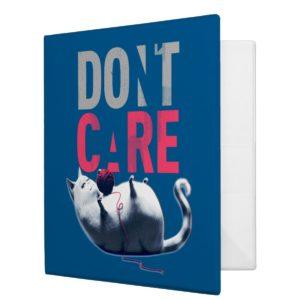 Secret Life of Pets - Chloe | Don't Care 3 Ring Binder