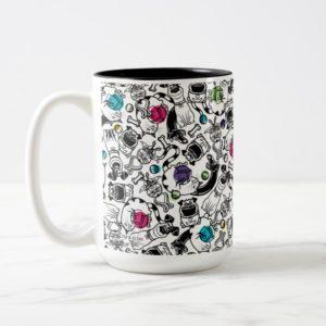 Secret Life of Pets Happy Pattern Two-Tone Coffee Mug